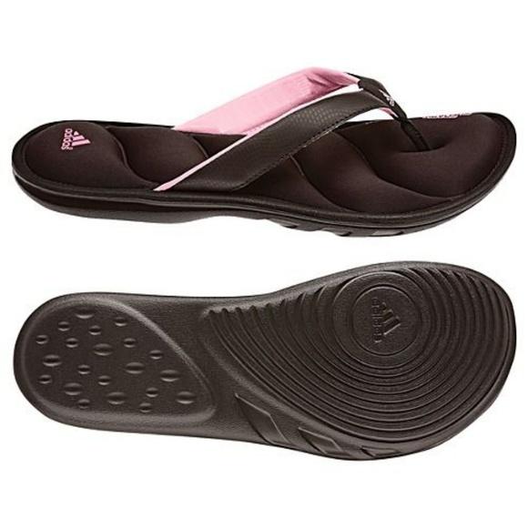 879fcd59c87188 adidas Shoes - ADIDAS BROWN FIT FOAM FLIP FLOPS